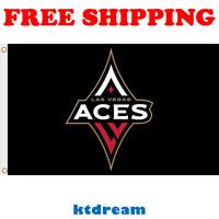 Deluxe Las Vegas Aces Flag 2019 WNBA Women Basketball Fan Banner 3X5 ft Gift