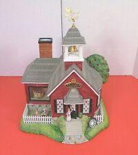 PartyLite Olde World Village Tea Light House 5 School House