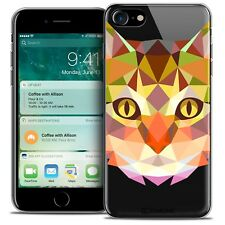 """Coque TPU Gel Pour iPhone 7 (4.7"""") Polygon Animal Souple Fin Chat"""