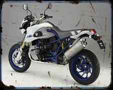 Bmw Hp2 Megamoto 07 2 A4 Metal Sign Motorbike Vintage Aged