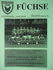 Programme 1998/99 reinickendorfer Foxes-FC Schoenberg 95/CZ Jena A-Juniors