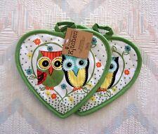 Owl Pot Holder Set Kay Dee Lifes A Hoot Pattern