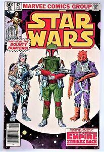 MARVEL COMICS STAR WARS #42 1980 1st BOBA FETT APP NEWSSTAND KEY! MANDALORIAN