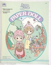 Vintage NEW 1992 Precious Moments Paper Doll (Kids, Crafts) Golden Book