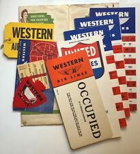 vtg Western Air Lines Souvenir Flight Packet timetable 11 Items 1942 1943 WWII