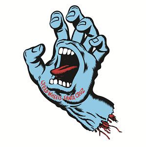 Santa Cruz Screaming Hand Sticker Skate Old School Aufkleber blau 20cm rar blue