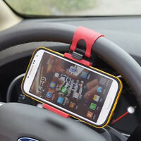 1X Car Steering Wheel Clip Mount Holder Cradle Stand For Mobile Phone GPS MP3 TO