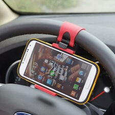 Car Steering Wheel Clip Mount Holder Cradle Stand For Mobile Phone Gps Mp3Gx