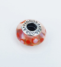 "Genuine Pandora Murano Glass Bead ""Cinnamon Bubbles"" 790688 - retired"