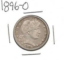 1896-O Barber Quarter : Extra Fine