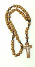 100% Rosary olive Wood Jerusalem holy land Catholic Crucifix Necklace Cross Bead