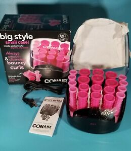 Conair Compact Multi-Size Hot Rollers - 20 Rollers - Pink -NIP