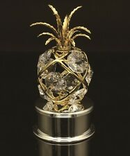 24K Gold Plated Pineapple Trinket Box with Authentic Swarovski Crystal Elements