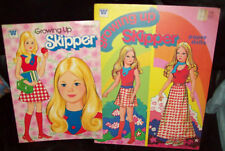 Lot of 2 Growing Up Skipper PAPER DOLLS & COLORING BOOK