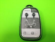 POLAROID PHP731 STEREO EAR BUDS WITH IN-LINE MIC BLACK NEW SEALED PLEX CASE
