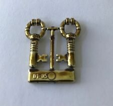 LEGO Minifig Chrome ANTIQUE BRASS KEY - Harry Potter Treasure Chest  4709 - NEW