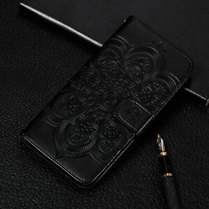 For Samsung Galaxy S9 S10 E Sunflower Flip Stand Card Wallet Leather Case Cover