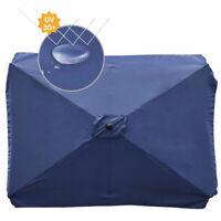Patio Umbrella Top Replacement Cover Canopy Rectangle 6.5x10 ft Umbrella Blue