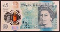 B414 CLELAND 2016 £5 BANKNOTE * AA52 449583 * FIRST SERIES * UNC * Polymer Note
