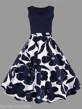 XL-5XL Plus Size Ball Gown Vintage Dress Sleeveless V-Neck Party Cocktail Dress