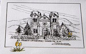 Saint Francis Cathedral in Santa Fe,  greeting / thank you card, FREE SHIPPING!