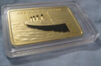 RMS TITANIC Gold Bar Ingot Ship Disaster 1912 London New York City Ocean Boat UK