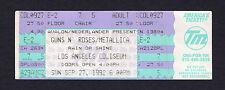 1992 Guns n Roses Metallica unused full concert ticket Los Angeles Coliseum