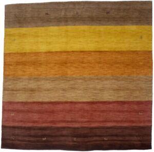 Contemporary Multicolored Stripes Square 8X8 Oriental Modern Rug Decor Carpet