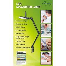 "LED Magnifier Lamp-3x-10.8 W-900 Lumens-Lifetime 20,000 Hrs-32"" Adj Height-NIB"