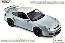 Porsche 911 GT2 de 2007 Silver with black wheels NOREV - NO 187594 - Ech 1/18