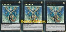 YUGIOH - 3 X HIERATIC DRAGON KING OF ATUM DUPO-EN092 - ULTRA 1ST ED DUEL POWER