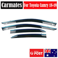 Window Weather Shield Visor For Toyota Camry 18-19 4 Doors double sided tape