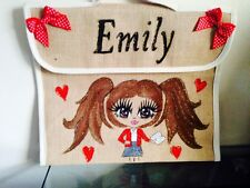 PERSONALISED School BOOK BAGS ANY NAME ANY UNIFORM AND STYLE GIFT FOR ALL AGES