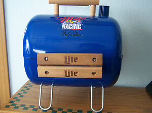 NASCAR RACING BLUE BBQ GRILL RUSTY WALLACE MILLER LIGHT - Never Used