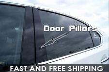 Honda Civic 2012-2014 Piano Black Door Pillar Cover B-Pillars Parts Post TYT21