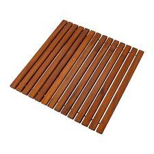 Oiled, Non-Slip Teak String Mat 19.6″ x 19.6″
