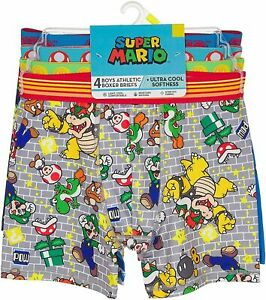 Nintendo Boys' Mario Athletic Boxer Brief, Mariomulti, Size 8.0 gERt
