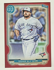 2020 Topps Gypsy Queen RED PARALLEL #253 RUSTY TELLEZ 2/10 Blue Jays ULTRA RARE