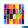 LOOM BANDS 7000 Pcs ASSORTED BRACELET MAKING MULTI COLOUR RUBBER DIY KIT KIDS UK