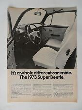 1973 Print Ad Volkswagen VW Super Bug Beetle ~ A Whole Different Car Inside