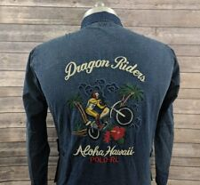 Polo Ralph Lauren Dragon Riders Aloha Hawaii Mens Denim Jacket Size Medium