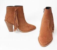 NEW** $350 COACH Westyn Fringe Saddle/Saddle Suede Boots Ankle Boots Size 9