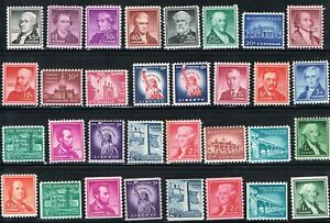 Jimace29 US #1030-1059 Liberty Issue #1053 $5.  $1. High Values incl. MH + coils