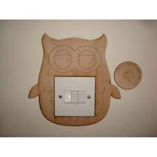 Owl Light Switch Surround - 3mm MDF Wooden Craft Blank Shape