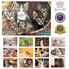 2021 Calendar 16 Month Cats and Kittens Rectangle Calendars