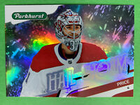 2019-20 UD Parkhurst Hail Storm #HS-19 Carey Price Montreal Canadiens Insert
