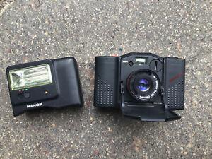 Minox GT-E 35mm Compact Film Camera plus Minox FC 35 Flash