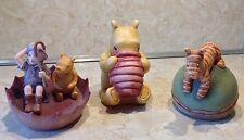 Charpente Classic Disney  Hand Painted Resin Figurine Winnie The Pooh Lot Of 3