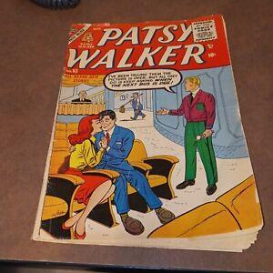 Patsy Walker #63 atlas comics 1956 Romance Movie Theater cover silver age gga