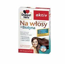 NA WŁOSY + BIOTYNA Doppelherz 30 kaps. witaminy skrzyp / hair nails skin / Haare